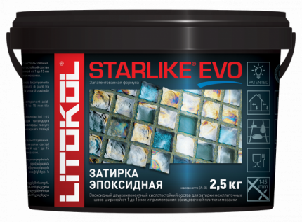 Затирка LITOKOL LITOCHROM STARLIKE EVO S.300 AZZURRO PASTELLO 2,5кг