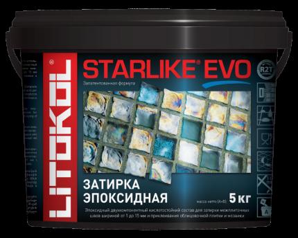 Затирка LITOKOL LITOCHROM STARLIKE EVO S.110 GRIGIO PERLA 5кг