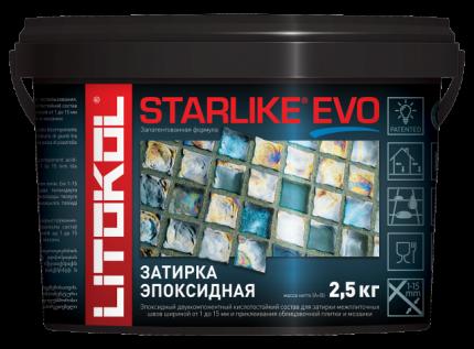 Затирка LITOKOL LITOCHROM STARLIKE EVO S.105 BIANCO TITANIO 2,5кг