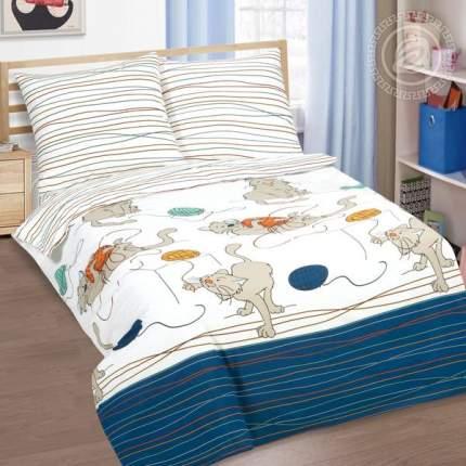 Постельное белье Мягкие лапки 910 1,5-спальное с котом