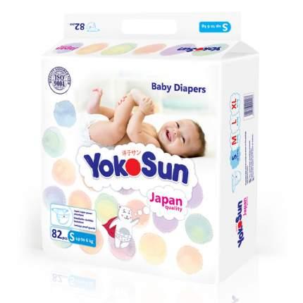 Подгузники для новорожденных YokoSun S (до 6 кг), 82 шт.