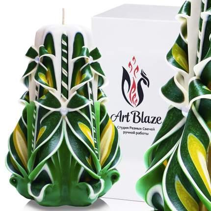 Декоративная резная свеча Art Blaze Летняя поляна 13 см