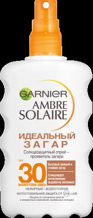 Солнцезащитный спрей-проявитель загара Garnier Ambre Solaire Идеальный загар SPF 30 200 мл