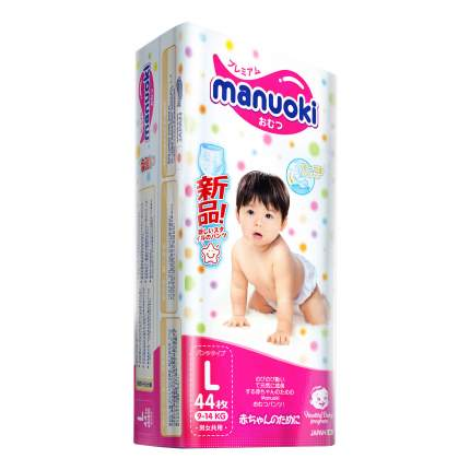 Подгузники-трусики Manuoki L (9-14 кг), 44 шт.