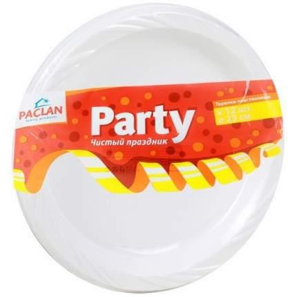 Тарелки Paclan из полистирола 230 мм 12 шт