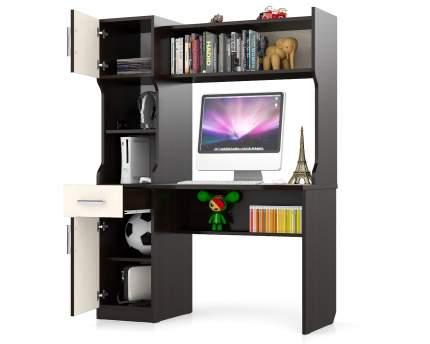 Компьютерный стол Мебельный Двор 43862 МД-1.02, венге/дуб