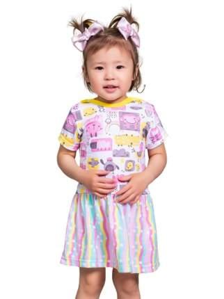 Платье Котмаркот Colour bunny 2440569 цвет белый р. 68
