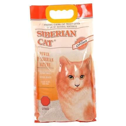 Комкующийся наполнитель для кошек Сибирская кошка Оптима бентонитовый, 4 кг, 5 л