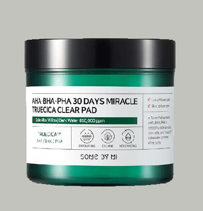 Some By Mi Пэды для проблемной кожи кислотные - 30Days miracle truecica clear pad, 70шт
