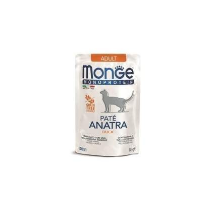 Влажный корм для кошек Monge Monoprotein, утка,  85г