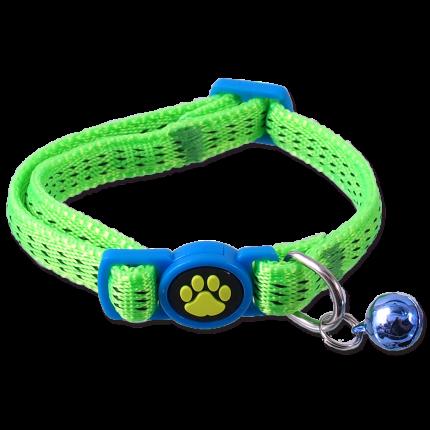 Ошейник для кошек Magic Cat XS 453-50004 нейлон, зеленый, 19-31 см