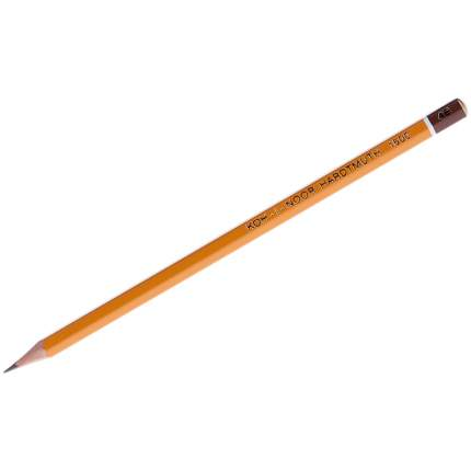 Карандаш чернографитный, деревянный лакированный корпус, 4В