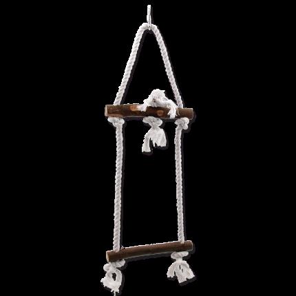 Лестница для птиц Bird Jewel, дерево, джут, 15x50см