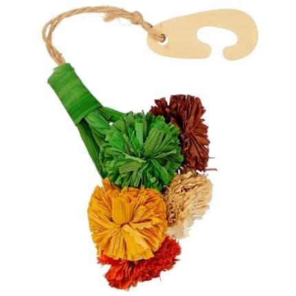 Игрушка для грызунов Fauna ЦВЕТЫ из кукурузы, натуральные компоненты,  28х8х8см
