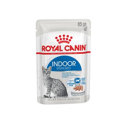 Влажный корм для кошек ROYAL CANIN Indoor sterilised, мясо,  85г