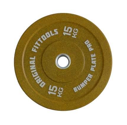 Диск для штанги Original Fit.Tools 15 кг, 51 мм