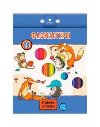 """Фломастеры """"Забавные животные"""", 24 цвета"""