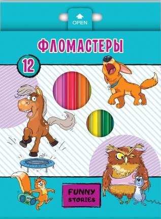 """Фломастеры """"Забавные животные"""", 12 цветов"""