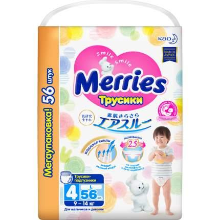 Подгузники-трусики Merries L (9-14 кг), 56 шт.