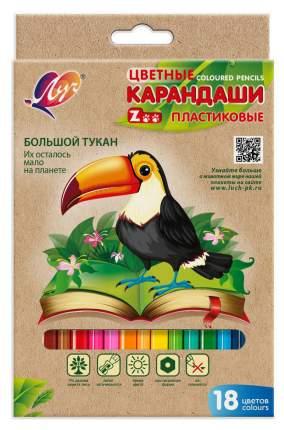 """Карандаши цветные """"Zoo"""", 18 цветов (пластиковые)"""