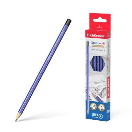 Чернографитный шестигранный карандаш ErichKrause® Grafica 100 2B коробка 12