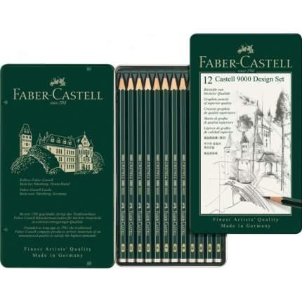 """Карандаши чернографитные """"Castell 9000"""", 12 штук"""