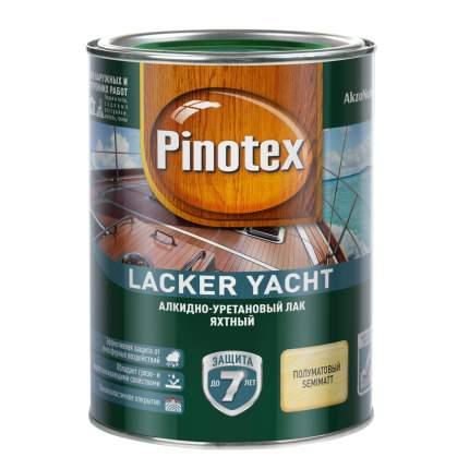 Лак яхтный Pinotex Lacker Yacht 40 алкидно-уретановый полуматовый 1 л