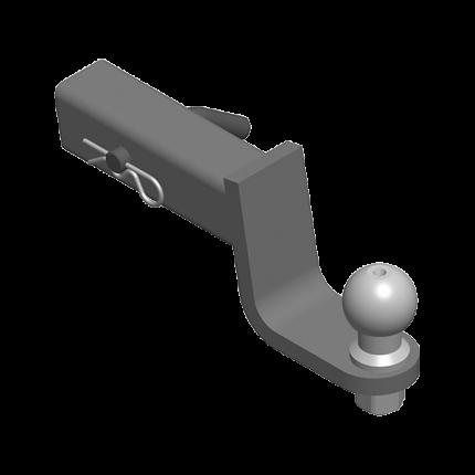 AvtoS шаровый узел с пониж 9см, ТСУа под квадр отв 50х50 мм на базе шара e без эл ty-05-09