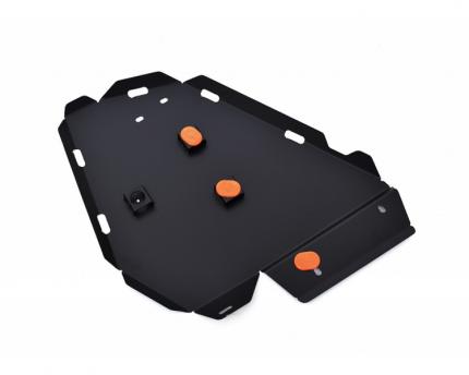 alfeco защита радиатора для ford explorer u251, 2006-2010, v-все (сталь 2 мм) alf0704st