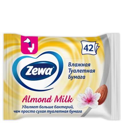 Туалетная бумага Zewa Миндальное молочко, влажная, 42 шт.