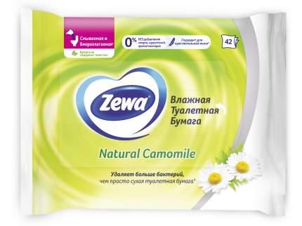 Туалетная бумага Zewa Ромашка, влажная, 42 шт.