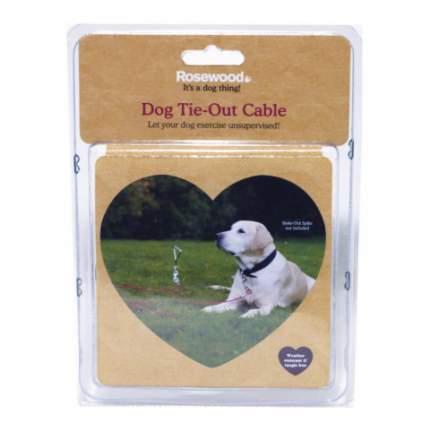 Металлический трос для привязи собак с карабином Rosewood