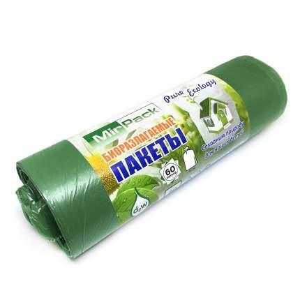 Мешки для мусора биоразлагаемые MIRPack серия PURE ECOLOGY 60л 7мкм, 20 шт