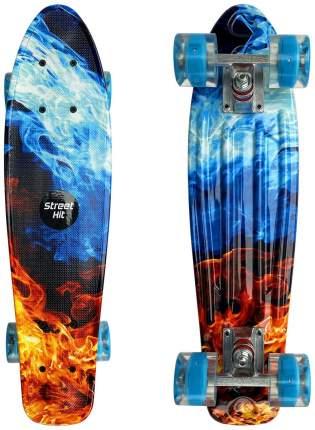 """Скейт Cruiser Board """"Street Hit"""" Огонь и пламя со светящимися колесами"""