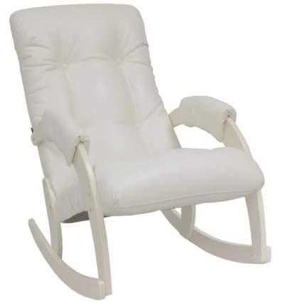 Кресло-качалка Консул, Модель 67 экокожа Манго 002, каркас дуб шампань