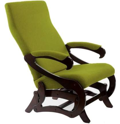 Кресло- маятник Сиена ткань лайм, каркас орех