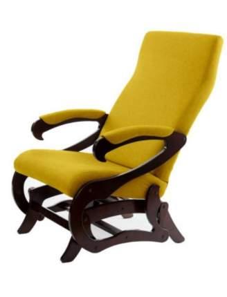 Кресло- маятник Сиена ткань желтый, каркас орех
