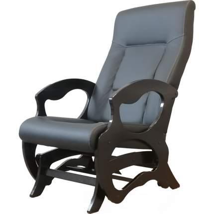 Кресло- маятник Санторини экокожа чёрный, каркас венге