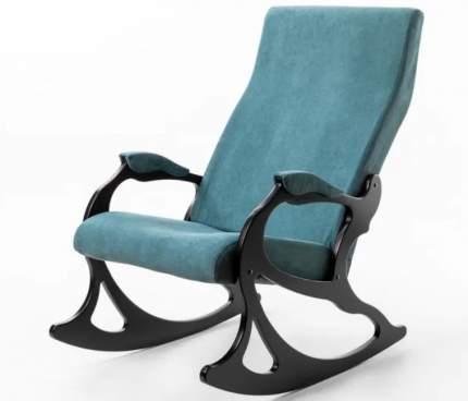 Кресло- качалка Санторини ткань изумруд, каркас венге