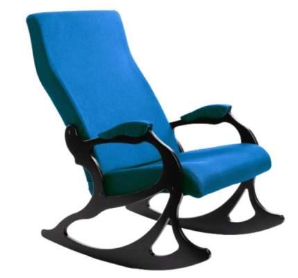 Кресло- качалка Санторини ткань бирюза, каркас орех