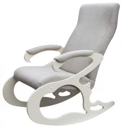 Кресло- качалка Верона ткань серый, каркас дуб шампань