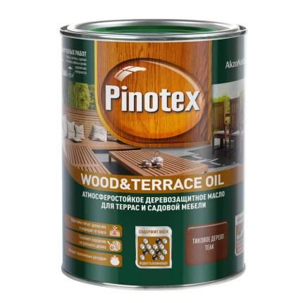 Масло Pinotex Wood&Terrace Oil атмосферостойкое для террас тик 1 л