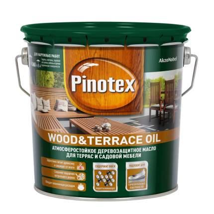 Масло Pinotex Wood&Terrace Oil атмосферостойкое для террас бесцветное 2,7 л