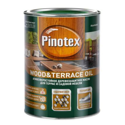 Масло Pinotex Wood&Terrace Oil атмосферостойкое для террас бесцветное 1 л
