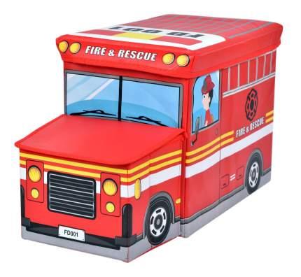 Короб для хранения игрушек Markethot Автобус Красный, 55х25х31 см