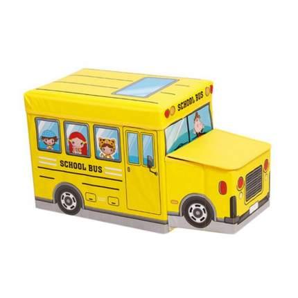 Короб для хранения игрушек Markethot Автобус Желтый, 55х25x25 см
