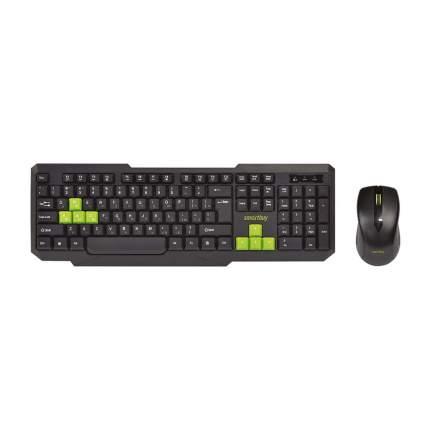Комплект клавиатура и мышь SmartBuy ONE 230346A Black/Green (SBC-230346AG-KN)