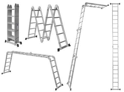 Лестница трансформер стремянка алюминиевая 4x5, нагрузка 150кг