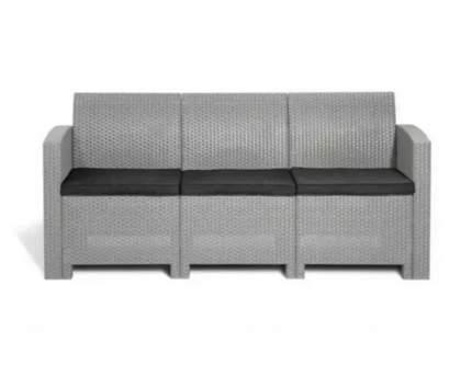 Садовый диван Idea LIFE 3 цвет пластика: светло-серый / подушек: темно-серый