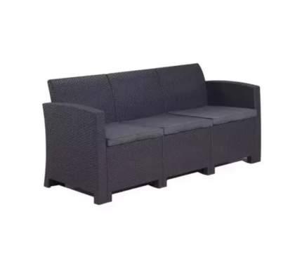 Садовый диван Idea LIFE 3 цвет пластика: темно-серый / подушек: темно-серый